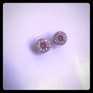 Origami Owl Purple Halo Studs